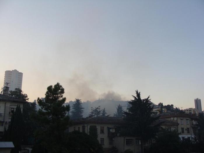 Пожар на Красноармейской в Сочи 09.09.10