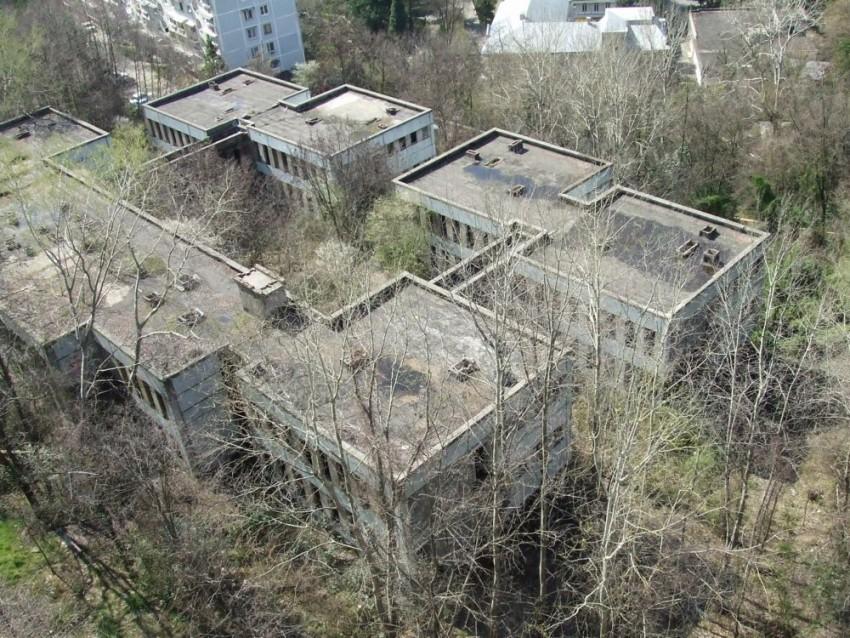 Unfinished kindergarten from the Soviet era, in the district of sanatorium Ordzhonikidze